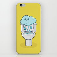 bathroom iPhone & iPod Skins featuring Bathroom Break by Ava Guerrero