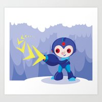 megaman Art Prints featuring Megaman by Maria Jose Da Luz