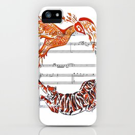 The Tiger and the Phoenix iPhone Case