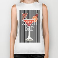 bar Biker Tanks featuring Cocktail Bar by Sartoris ART