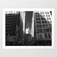 detroit Art Prints featuring Detroit  by Galaxys_Limit