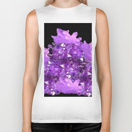 AWESOME PURPLE AMETHYST CRYSTAL CLUSTER Biker Tank
