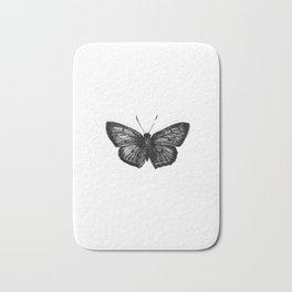 Minimalista borboleta 1 Bath Mat
