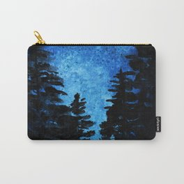 Blue Sky - Evergreen Trees Carry-All Pouch