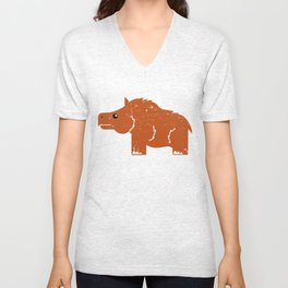 Woolly Rhino Unisex V-Neck