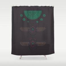 Scarabs Shower Curtain
