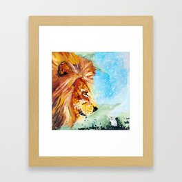 The Lion and the Rat - Animal - by LiliFlore Framed Art Print