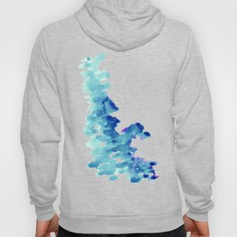 Blue, turquoise water cloud. Colorful watercolor painting Hoody