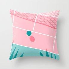 Jock - tennis sport retro neon throwback palm springs los angeles hollywood california sunny pop art Throw Pillow