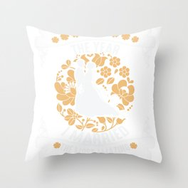 I married the most amazing girl shirt married 2018 Throw Pillow