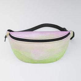 Pink and Green Watercolor Ombre Fanny Pack
