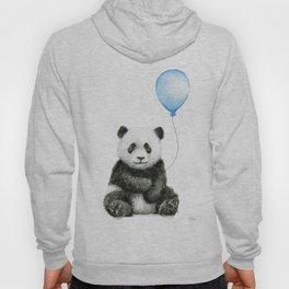 Panda Baby Animal with Blue Balloon Hoody