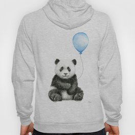 Panda Baby Animal with Blue Balloon Hoody