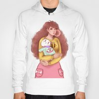 puppycat Hoodies featuring Bee and Puppycat by MW Illustration
