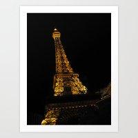 Eiffel Tower LV Art Print