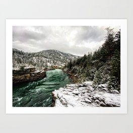 Wintergreen River Art Print