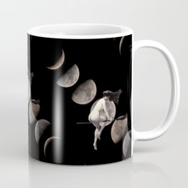 Moon Phases with Vintage Witch Coffee Mug