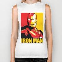 iron man Biker Tanks featuring Iron Man by C.Rhodes Design