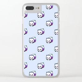 Kawaii Galactic Mighty Panda pattern Clear iPhone Case