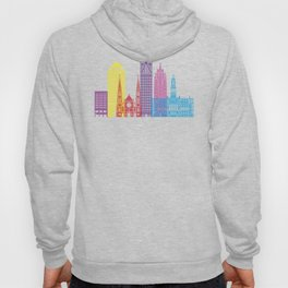 Detroit V2 skyline pop Hoody