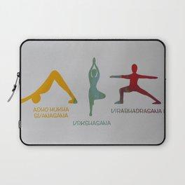 Screenprinted Yoga Art: Asanas - Wild Veda Laptop Sleeve