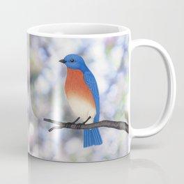 male eastern bluebird bokeh background Coffee Mug