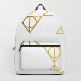 Deathly hallows golden pattern Backpack