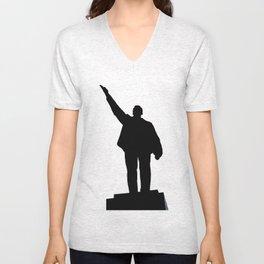 Lenin's monument Unisex V-Neck