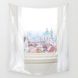 A View Over Prague, Czech Republic Wall Tapestry