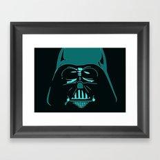 Tron Darth Vader Outline Framed Art Print