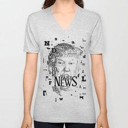 Donald Trump Fake News Unisex V-Neck