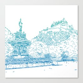 Princes Street Gardens Canvas Print