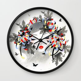 Chrysanthemum Mood Wall Clock