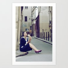 Paris Vintage 4 Art Print
