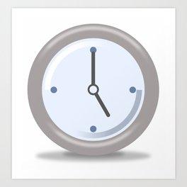 Clock Five Art Print