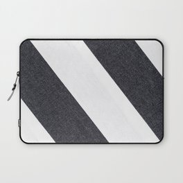 White & Black Stripes Laptop Sleeve
