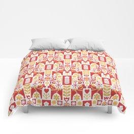 Swedish Folk Art_Mid-Century Modern Comforters