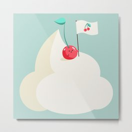 Cherry on top (of the whipped cream mountain) Metal Print