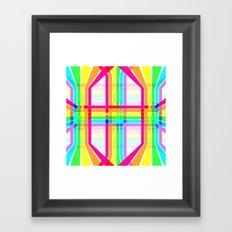 Weaved Rainbow Framed Art Print