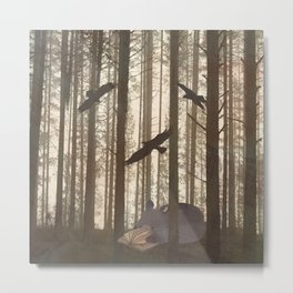 Forest Spirit Bear Metal Print