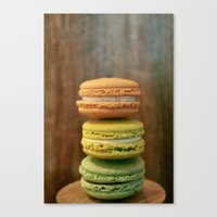 macaroon Canvas Prints featuring Macaroon Stack by La Fin Du Globe