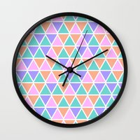 geo Wall Clocks featuring GEO by Isabella Salamone