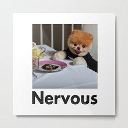 Nervous Dinner With Dog Metal Print