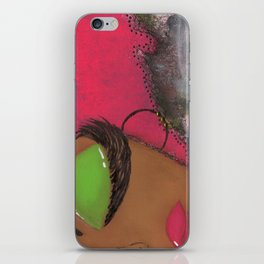 Pink and Green Sassy Girl iPhone Skin