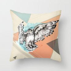 Owl McFly by carographic Throw Pillow
