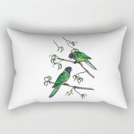 Ringneck Parrots Rectangular Pillow