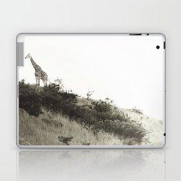 africa is a feeling - giraffe on the hill Laptop & iPad Skin