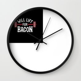 Will Lift For Bacon Wall Clock