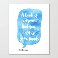 neil gaiman Canvas Prints featuring Neil Gaiman, quotes, Sky color by Good vibes and coffee