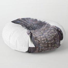 Black Cockatoo - Colorful Floor Pillow
